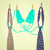 Ties and Bra Royalty Free Stock Images