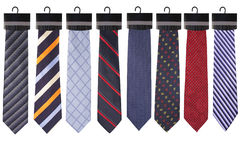 Ties collection. New ties collection isolated on white Stock Photo