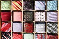 Ties Collection Stock Photos