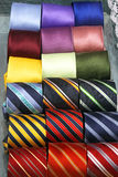 Ties. Colourful neck ties assortment made from silk Royalty Free Stock Photos