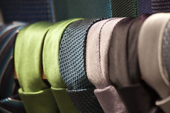 Ties. Different color with row Royalty Free Stock Image