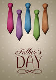 Ties for Father's Day Stock Image