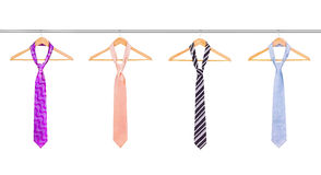 Ties on the hanger Stock Photography