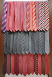 Ties hanging in shop Stock Images