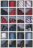 Ties in shapes  Royalty Free Stock Photos