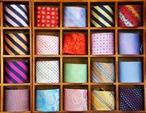 Ties on the shelf Stock Photos