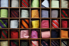 Ties on the shelf Royalty Free Stock Photography