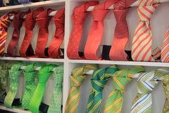 Ties in the shop Royalty Free Stock Photo