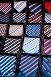 Ties  in a showcase Royalty Free Stock Images