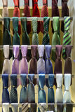 Ties on the showcase of a shop Royalty Free Stock Image