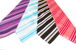 Ties with stripes Royalty Free Stock Images