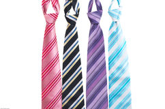 Ties with stripes Stock Photo