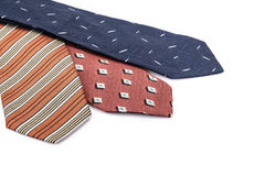 Ties on white Stock Images