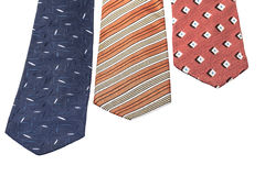 Ties on white Royalty Free Stock Images