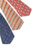 Ties on white Stock Image