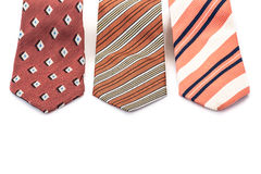 Ties on white Royalty Free Stock Photo