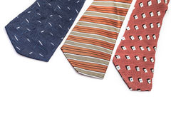 Ties on white Stock Photography