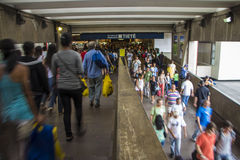 Tietê公共汽车总站-圣保罗-巴西 免版税图库摄影