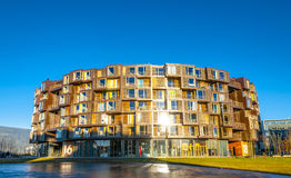 Tietgen Dorm. Here is a picture of the Tietgen Dorm (Tietgen Kollegiet) on a sunny day in Orestaden, Copenhagen. The apartments are only reserved for students Royalty Free Stock Image