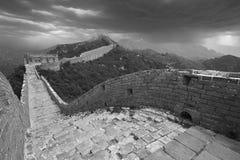 Tifón apocalíptico de la Gran Muralla, China imágenes de archivo libres de regalías