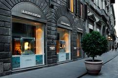 Tifanny & Co商店在佛罗伦萨,一最豪华的购物区在世界上 免版税库存图片