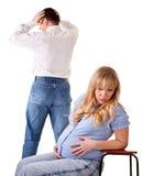 Tiff. family quarrel Stock Images