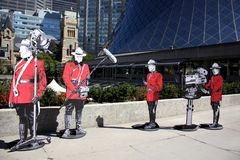 Tiff-kanadische Soldatabbildung lizenzfreie stockfotos