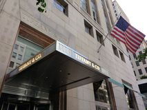 tiffany美国co公司珠宝的银器 纽约, NYC, NY,美国 库存图片
