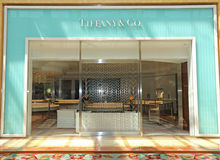 tiffany美国co公司珠宝的银器 免版税库存图片