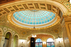 Tiffany Ceiling du centre culturel de Chicago images stock