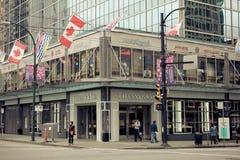 Tiffany & Co., Burrard Street, Vancouver, BC. Royalty Free Stock Photos