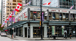 Tiffany & Co., Burrard Street, Vancouver, BC. Royalty Free Stock Images