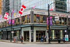 Tiffany & Co., Burrard Street, Vancouver, BC. Royalty Free Stock Photo