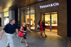 Tiffany & Co-Opslag Stock Afbeelding