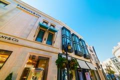 Tiffany & Co sklep w rodeo przejażdżce Obraz Royalty Free
