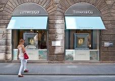 Tiffany & co. store Florence ,Italy Stock Image