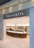 Tiffany and Company boutique at Bangkok airport royalty free stock images