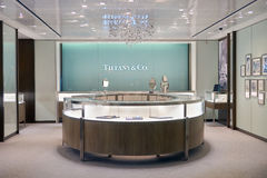 Tiffany & Company. SINGAPORE - CIRCA SEPTEMBER, 2016: Tiffany & Company store at Singapore Changi Airport. Tiffany & Company is an American luxury jewelry and royalty free stock images