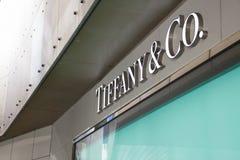 Tiffany et Co connexion Tokio de logo Photos stock