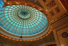 Tiffany Glass Ceiling stock photo