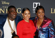 Tiffany Haddish, Tracy Morgan and Megan Wollover royalty free stock images
