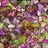 Tiffany hearts pattern Royalty Free Stock Photos