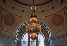Tiffany-kroonluchter, capitol van de staat van Washington Stock Afbeelding