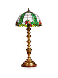 Tiffany lamp. Elegant tiffany glass table lamp isolated on white background. Object with clipping path stock photography