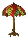 Tiffany lamp isolated. Vintage multicolor tiffany lamp on white Stock Photography
