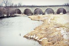 Tiffany Stone Arch Bridge Foto de archivo libre de regalías
