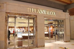 Tiffany Store. In Bellevue square Mall. Tiffany Co is a luxury American multinational jewelry and silverware corporation Stock Photos