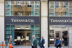 Tiffany store front in Vienna Austria Royalty Free Stock Images