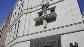 Tiffany store in Rodeo Drive stock video