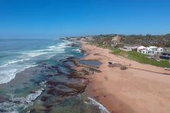Tiffanys plaża, soli skała, Kwazulu Natal, Południowa Afryka fotografia stock